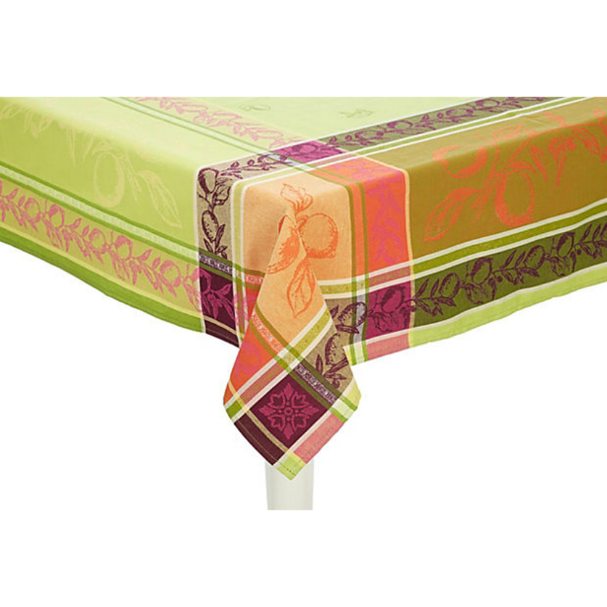 "Citronnier Jacquard Tablecloth 98""Sq"