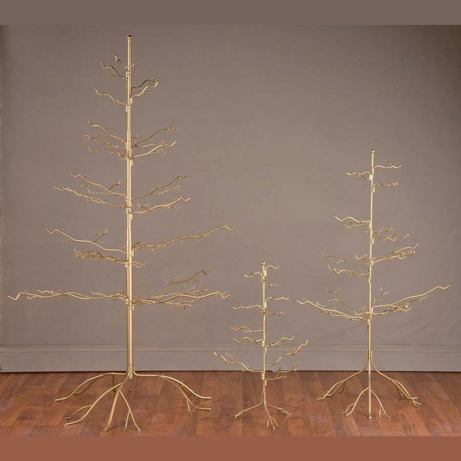 Gold Natural Ornament Tree 67""