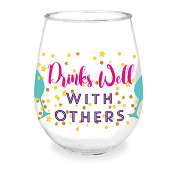 Bermuda Drinks Well With Others Wine Tumbler