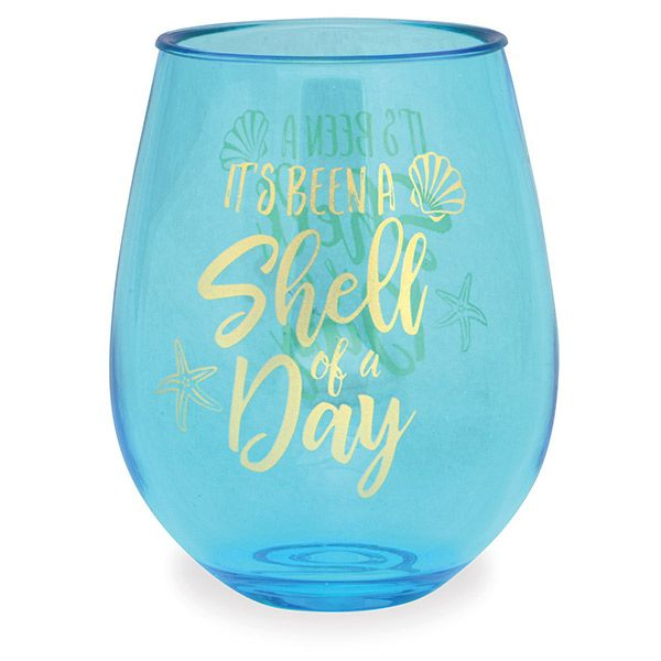 Bermuda Shell Of A Day Wine Tumbler