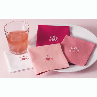 Hugs & Kisses Cocktail Napkins/4