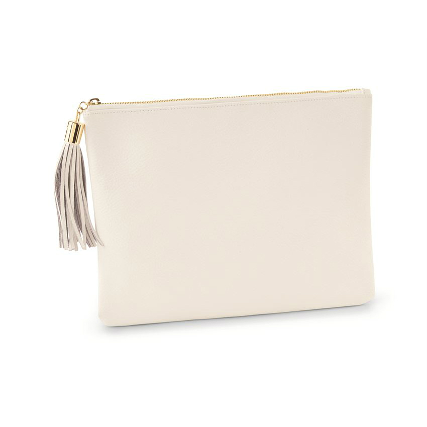 Leather White Carry-All Case
