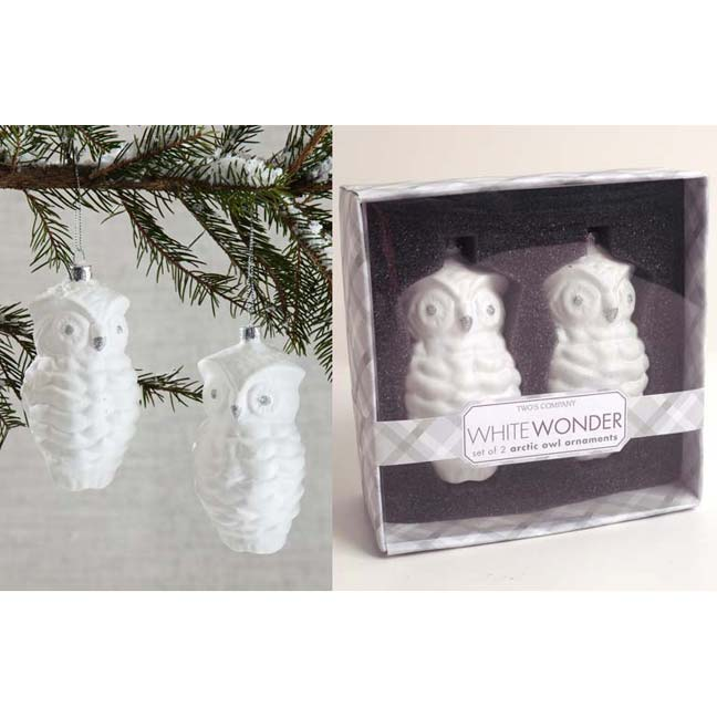 Winter Wonderland Arctic Owl Ornaments/2