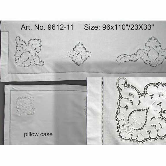 Cutwork Sheet Set 96x110""