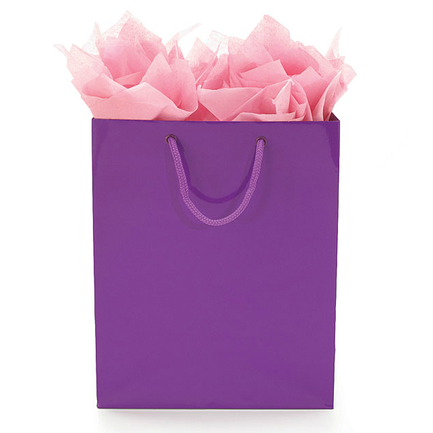 Bright Purple Gift Tote Bag 10""