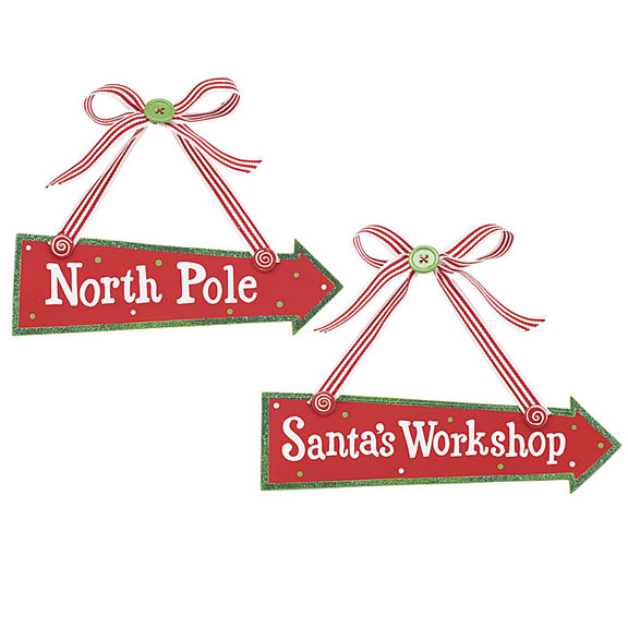 Santa's Workshop Christmas Sign
