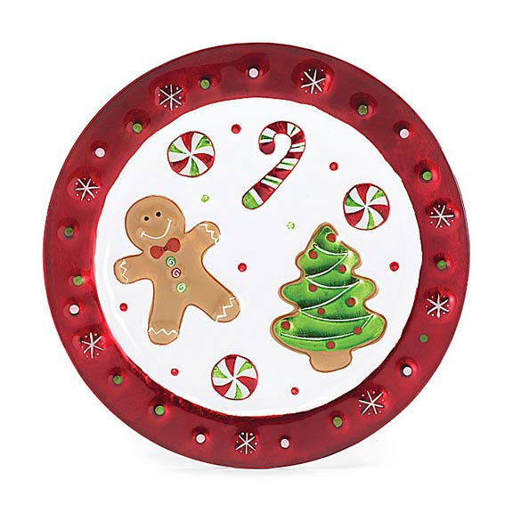 Gingerbread Treats Glass Plate 10.5""