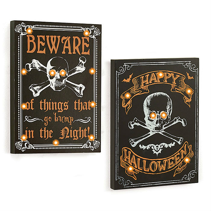 Halloween Light-Up Sign