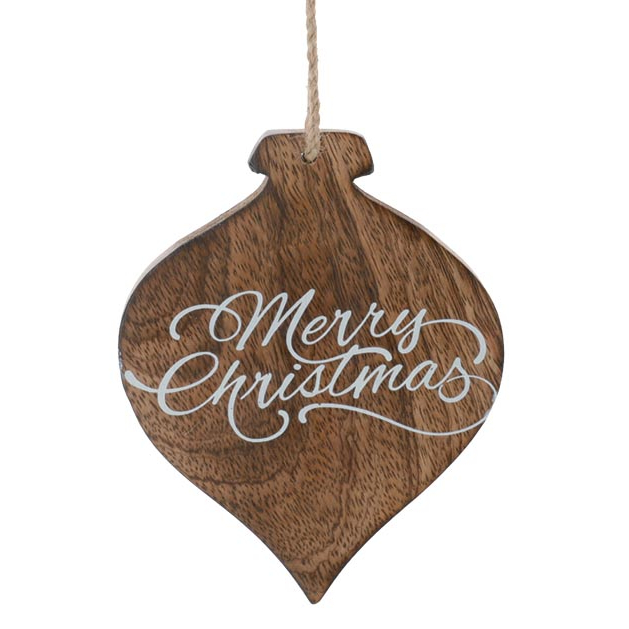 Merry Christmas Wooden Ornament