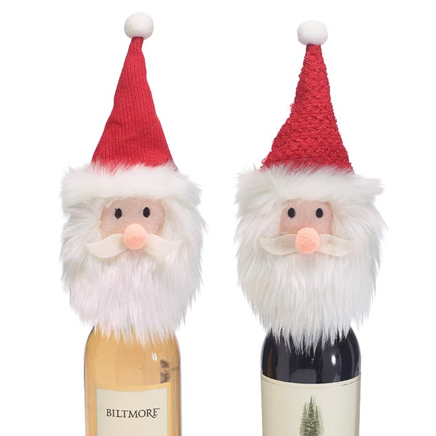 Santa Head Bottle Topper