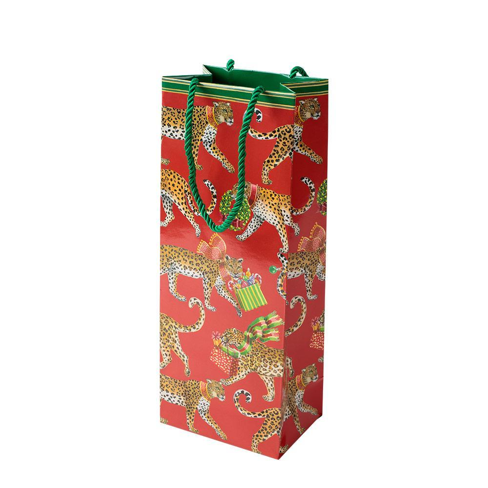Christmas Leopards Wine & Bottle Gift Bag