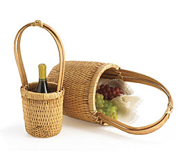 Light Brown Tall Baskets Set/2