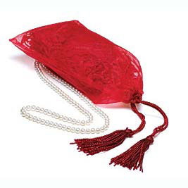 Red Drawstring Gift Bag