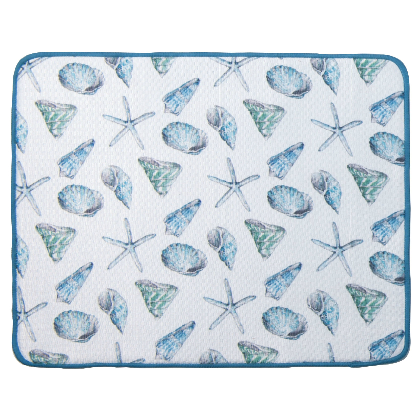 Seashells Beach House Drying Mat