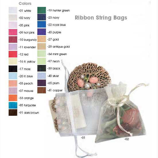 3x4 Silver Organza Bag - low as 45¢