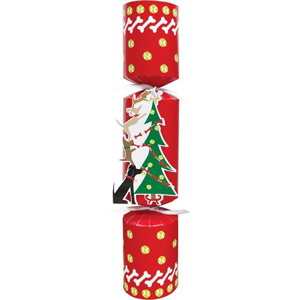 Doggies Decorating Tree Pet Christmas Favor