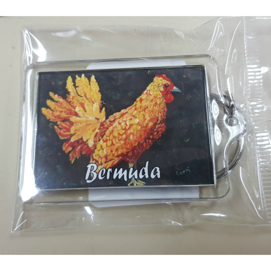 Bermuda Chicken Key Ring