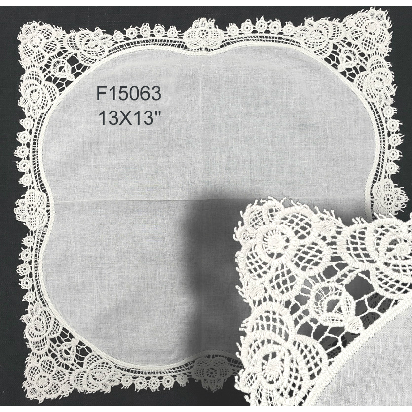 F15063 Crocheted Lace Hanky