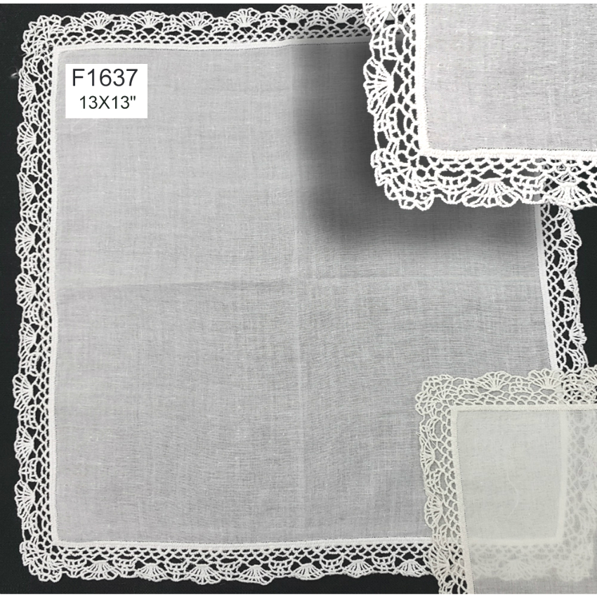 F1637 Crocheted Lace Hanky