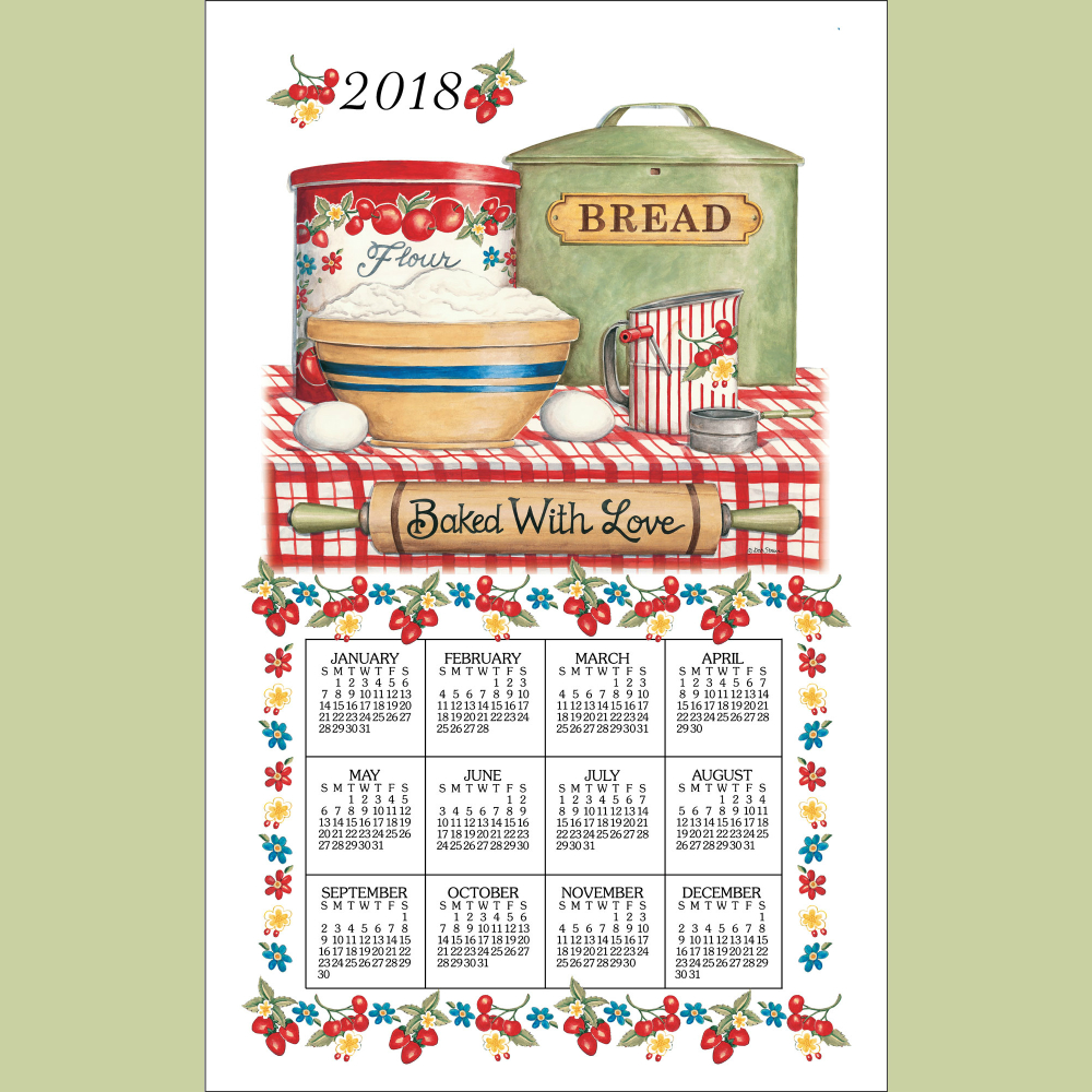 Baked With Love Calendar Towel '18