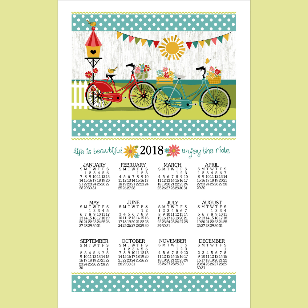 Enjoy The Ride Calendar Towel '18