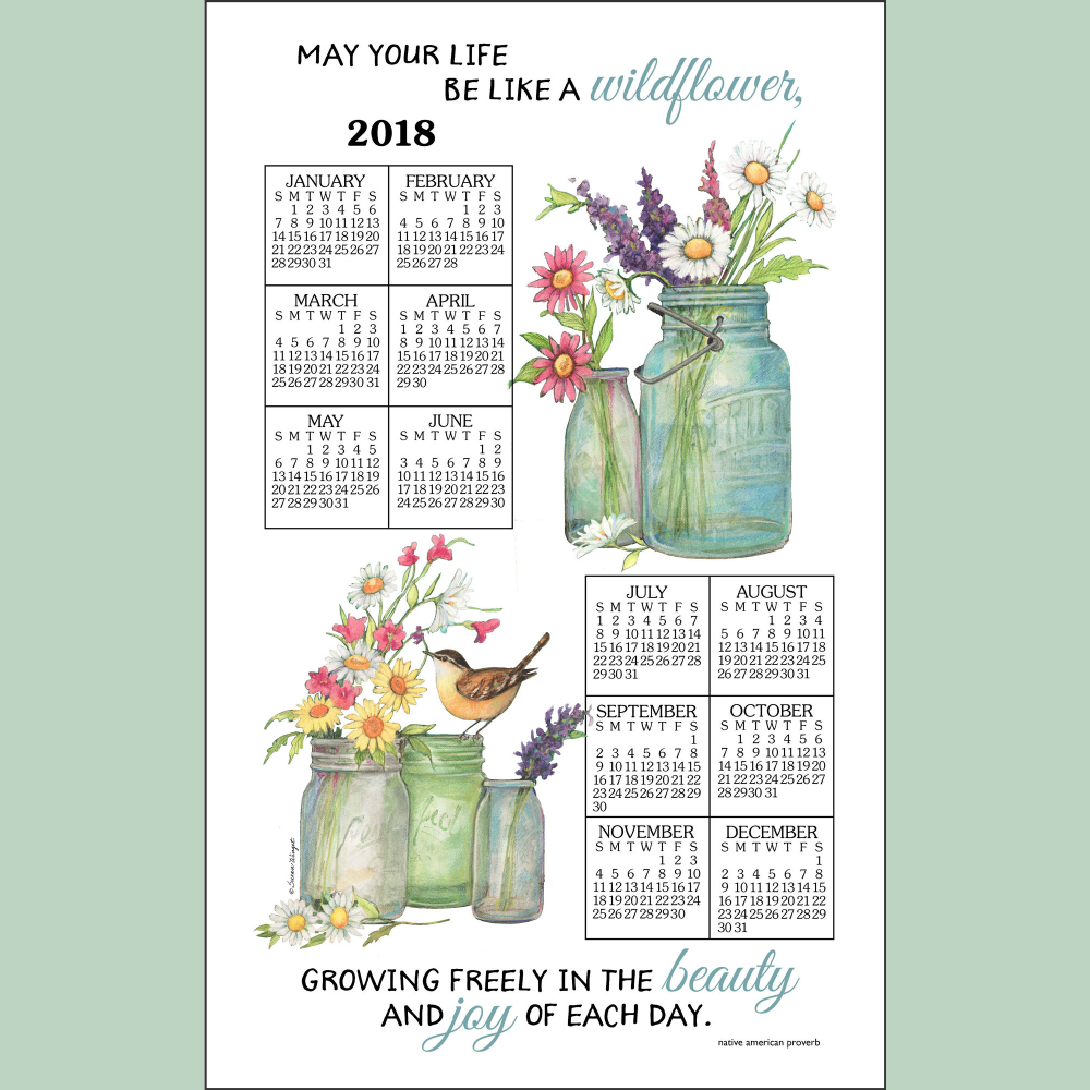 Wildflowers Calendar Towel '18