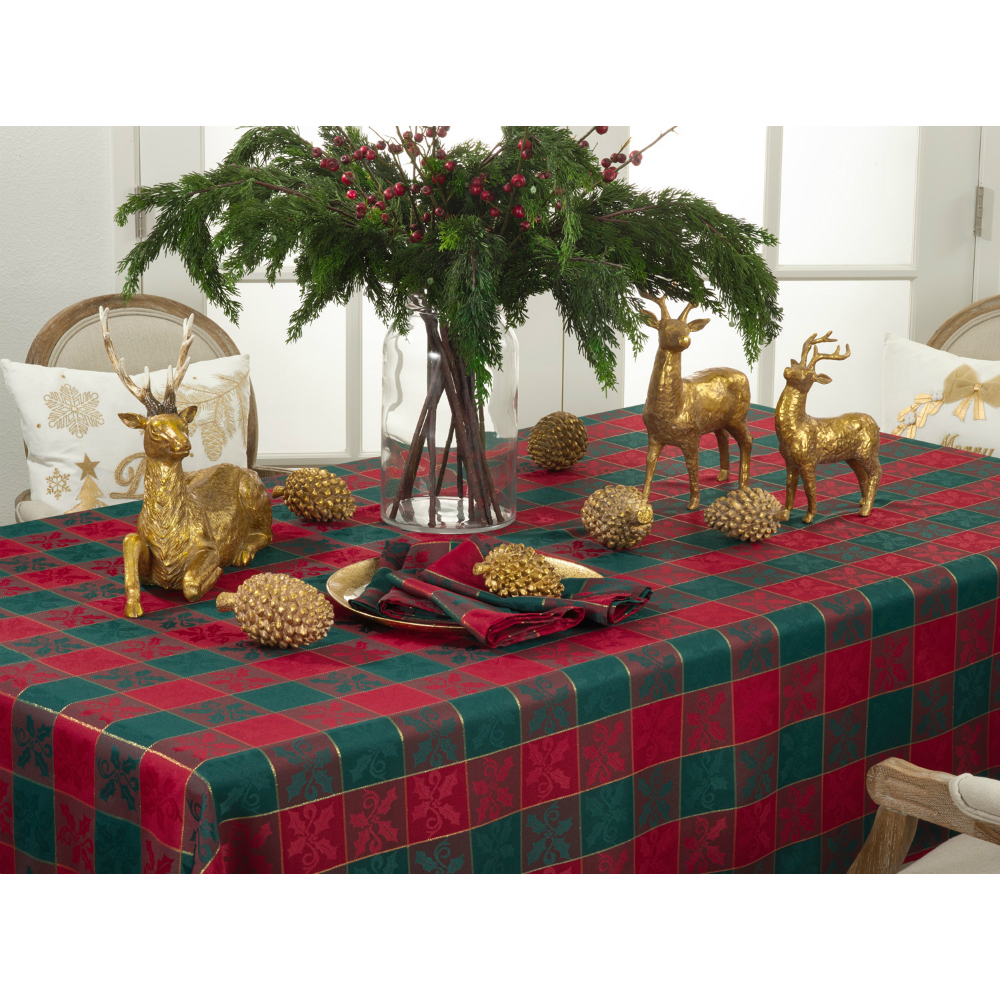 "Xmas Red/Green Plaid 70""sq"