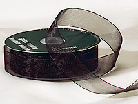 "1"" Black Organza Ribbon"
