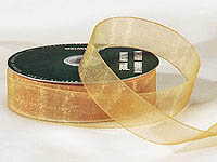 "1"" Gold Organza Ribbon"