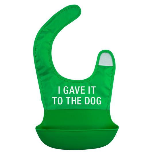 Gave it to the Dog Nylon Silicone Bib