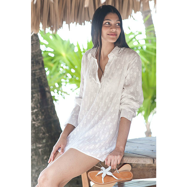 Beach Shirt Tunic M