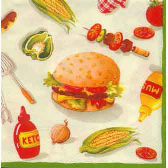 Burger Party Paper Luncheon Napkins