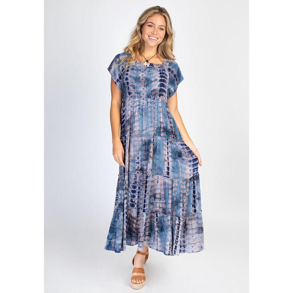 Berkley Dress Navy Tie Dye