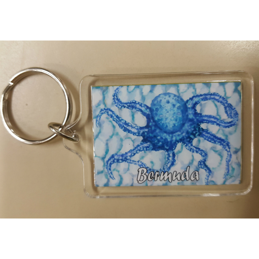 Bermuda Octopus Key Ring
