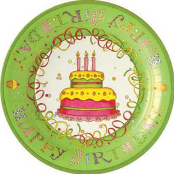 Birthday Party Paper Dinner Plates