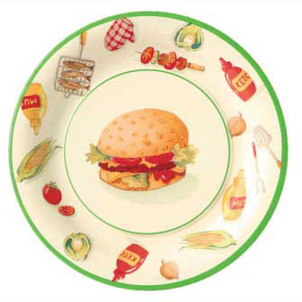 Burger Party Paper Dinner Plates