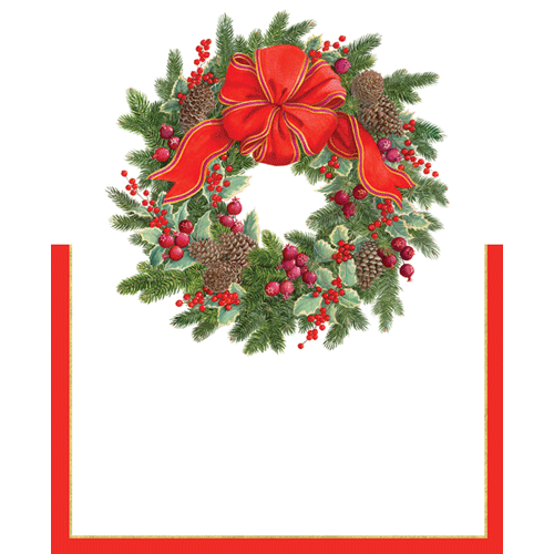 Evergreen Wreath Place Cards