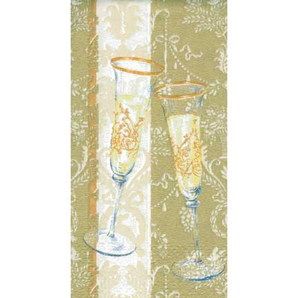 Sparkle & Fizz Gold Pocket Tissues