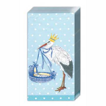 Baby Airways Blue Pocket Tissues