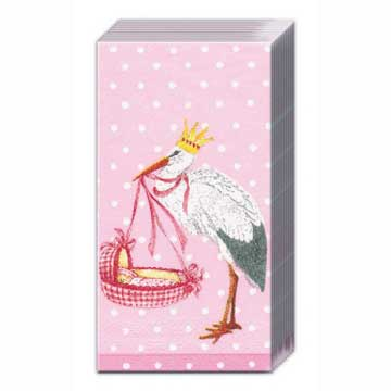 Baby Airway Pink Pocket Tissues