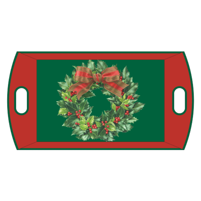 Holly Wreath Paper Tray