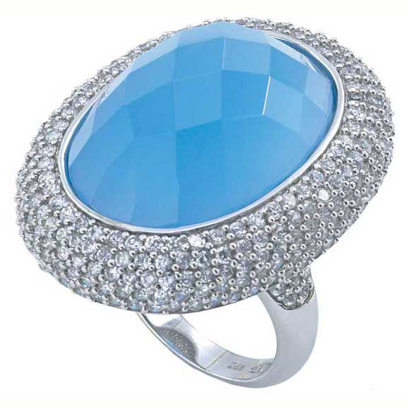 Winter Queen Blue Stone Ring