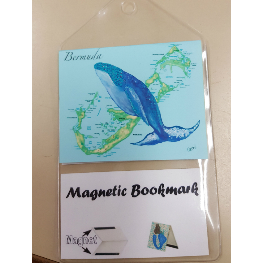 Bermuda Whale Map Bookmark