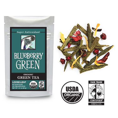 BLUEBERRY GREEN Organic, Fair Trade Green Tea SM