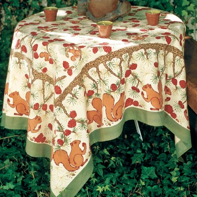 Pine Cone Tablecloth 71x106