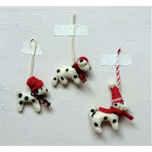 Mini Wool Dog Ornament